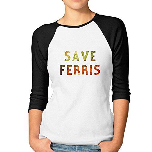 Women's Raglan Baseball Ferris Bueller Shirt - S to XXL