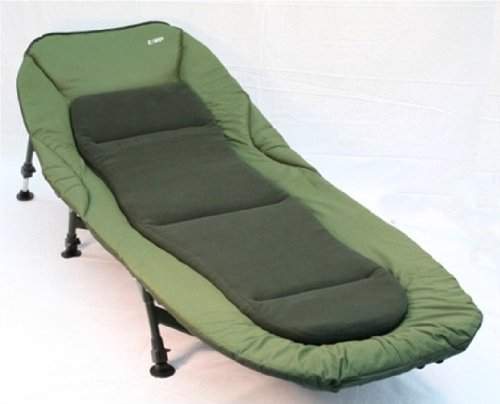 Carp Zone - Sleeper Six Leg Carp Fishing Bedchair with Removable Fleece Mattress and Wellie Wipe