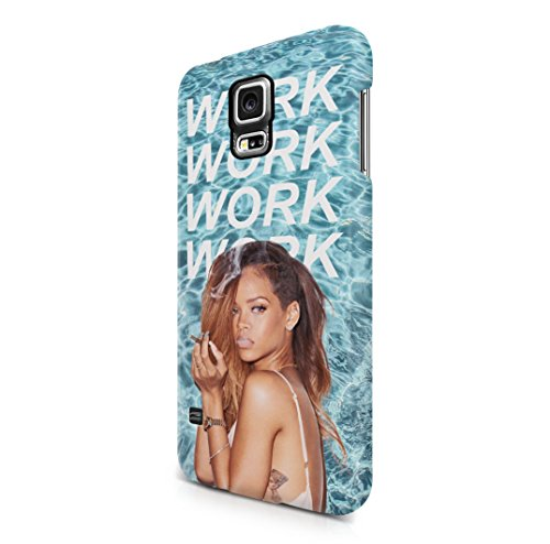 Rihanna-Work-Lyrics-Samsung-Galaxy-S5-Hard-Plastic-Case-Cover