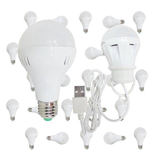 24 Pack Best 6 Watt LED Standard Light Bulb Cool White Incandescent Replacement Equivalent 50 Watt Bulk Case Pack with Bonus USB LED Light 3 Watt (Hot Pink Lightbulbs compare prices)