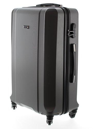 100-ABS-Koffer-Trolley-Handgepck-Pianeta-Serie-Boston-XL-75cm-Dunkel-Grau
