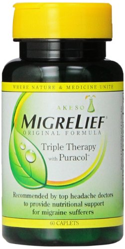 For Sale! Migrelief Original Formula, Triple Therapy with Puracol, 60 Caplets