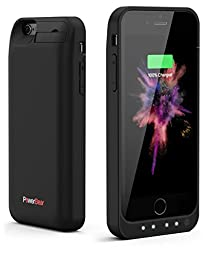PowerBear iPhone 6 / iPhone 6S Extended Rechargeable Battery Case with Built in USB PowerBank with 5000mah Capacity (Up to 250% Extra Battery) - Black [24 Month Warranty and Screen Protector Included]