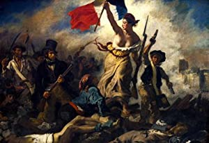 Eugene Ferdinand Victor Delacroix (Liberty Leading the People) Art Poster Print - 13x19 custom fit with RichAndFramous Black 19 inch Poster Hangers