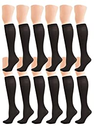 Angelina 70D Opaque Knee High Trouser Socks (Pack of 6 Pairs)