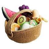 IKEA DUKTIG 9-piece fruit basket set,Plush Toys