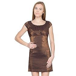 Species Women's A-line Dress (S-875_Golden_Small)