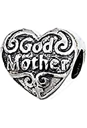 Zable Sterling Silver God Mother Bead
