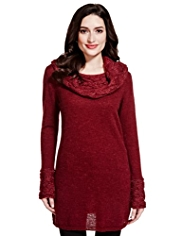 Per Una Cowl Neck Knitted Tunic with Mohair