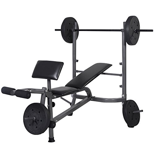 Goplus-Weight-Lifting-Bench-Fitness-Body-Workout-Home-Exercise-BarbellWeights
