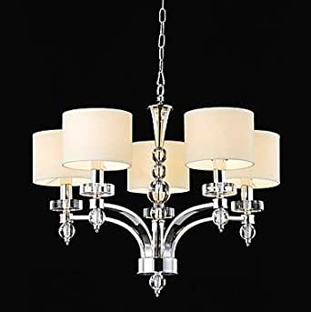 Elegant crystal modern elegant chandelier with 6 spheral for Contemporary chandeliers amazon