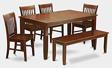 6-Pc Wooden Dining Set with Table