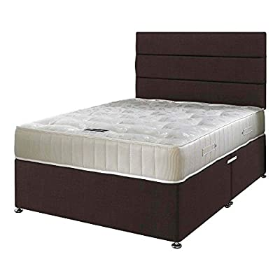 Happy Beds Ortho Royale Orthopaedic Bonnell Spring Mattress with Divan Base, Various drawer options