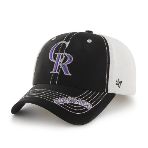 MLB Colorado Rockies Men's Flux Structured Cap, One-Size, Black at Amazon.com