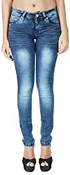 INTEGRITI Women's Slim Fit Jeans (ATTITUDE-LJ-107 EZYFT DEX_34, Blue, 34)