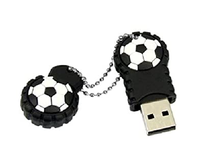 2GB Rubber Novelty Football Flash Drive by Vtec