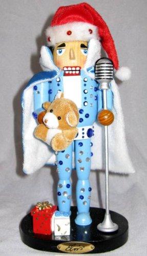 Kurt Adler Wooden *Elvis Presley in Blue Jumpsuit