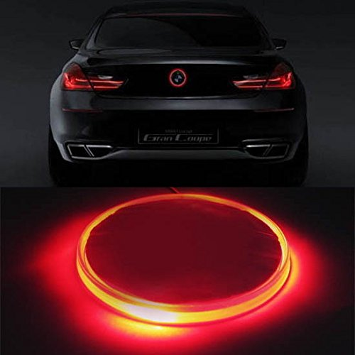 iJDMTOY 82mm BMW Trunk Hood Emblem Background Lighting Kit, Red (2008 Bmw Emblem compare prices)