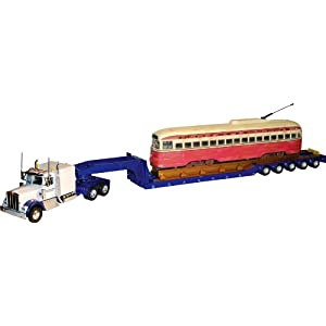 Corgi US24903 1:50 Scale Kenworth W925 Hauling PCC Streetcar on 5-Axle Lowboy - Tyler and Sons Trucking at Sears.com