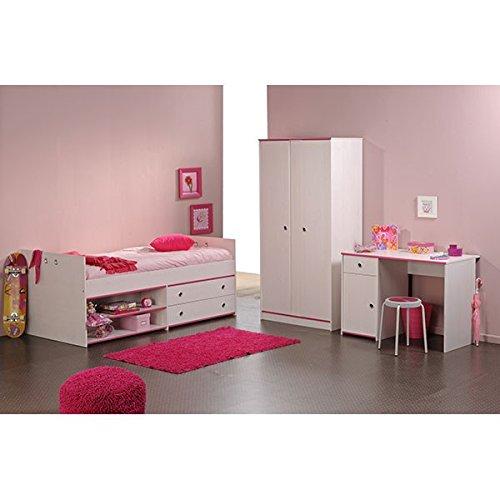 CRAVOG-Kinderzimmer-Komplett-3-tlg-Bett-Kleiderschrank-Schreibtisch-Jugendzimmer-Neu