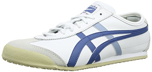 Onitsuka Tiger Mexico 66 Sneakers, Unisex Adulto, Bianco (Wht/Navy Blue 150), 44