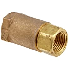 "Dixon 61-103 Brass Ball Cone Check Valve, 1/2"" NPT Female"
