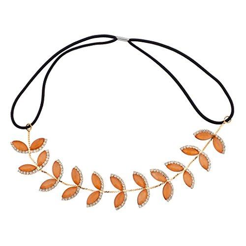 lux-accessori-motivo-foglie-colore-arancione-pesca-con-fascia-elastica-per-capelli-con-cristallo