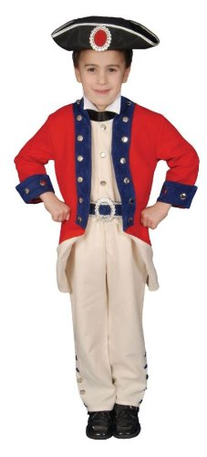 Deluxe Colonial Soldier Set Costume Set - Small 4-6