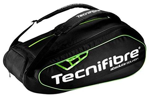 【新商品】【テクニファイバー】【スカッシュラケットバッグ】 Tecnifibre (テクニファイバー) Absolute green 9R (スカッシュラケットバッグ9本入)