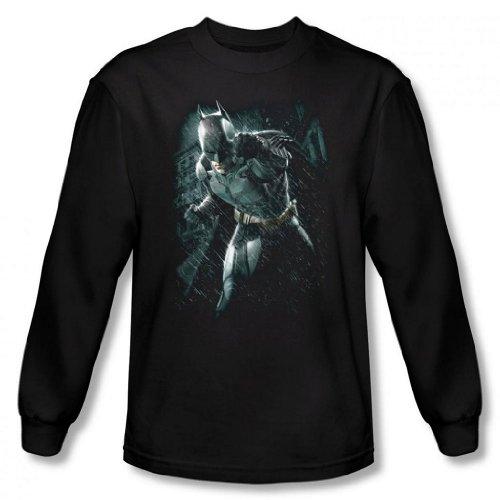 Dark Knight Rises - Batman rain Men's Long Sleeve T-Shirt