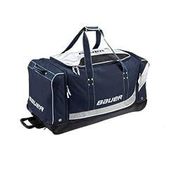 Bauer Premium Medium Wheeled Equipment Bag. Navy Hockey Bag 33. 1039876 by Bauer