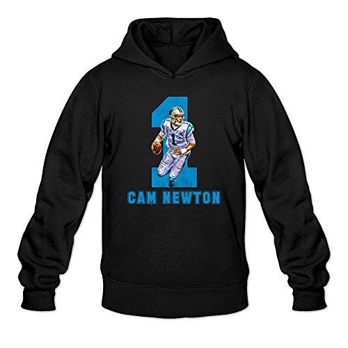 [Man Super Carolina Panthers Costume Hoodie Black] (Super Ray Costume)