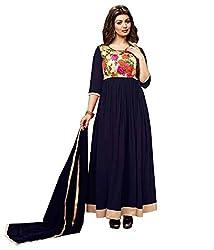 Merito Blue Digital Print Ethnic Dress Material