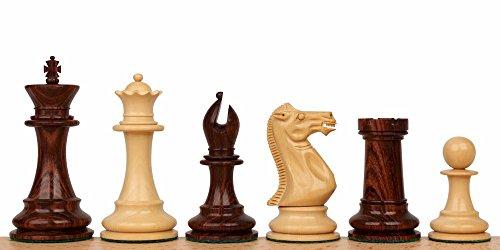 "Grande Staunton Chess Set in Rosewood & Boxwood - 3.5"" King"