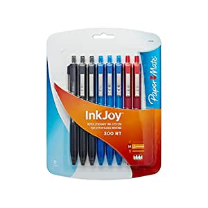 Paper Mate InkJoy 300 Ballpoint Pen, Retractable, Business Colors, Medium (1.0 mm), 8-Pack