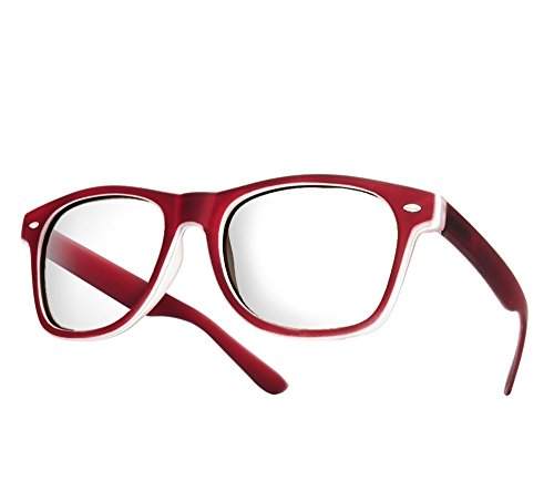 mens-womens-original-retro-glasses-clear-lens-unisex-vintage-cat-eye-style-rubi-red-clear-lens
