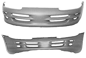 PAINTED FRONT BUMPER COVER DODGE INTREPID 98-04 NEW BSE - Dark Slate Pearl - AW/VAW