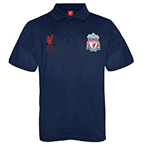 Liverpool FC Official Football Gift Boys Crest Polo Shirt Navy 12-13 Years XLB from Liverpool FC