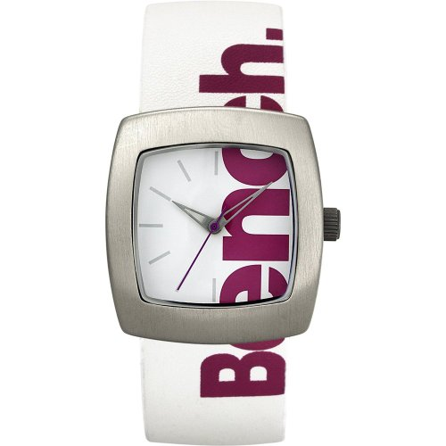 Bench Ladies Quartz Strap Watch with White Dial Analogue Display and White Plastic or Pu Band Bc0405Slpk