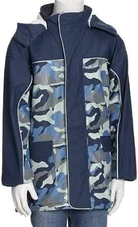 Playshoes Unisex - Baby Babybekleidung/ Regenbekleidung, Camouflage Regen-Mantel Camouflage 408552, Gr. 92, Blau (11 marine)