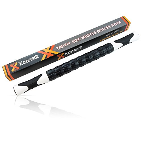 Muscle Roller Stick: A Great Sports Massage Tool for Releasing Myofascial Trigger Points, Reducing Muscle Soreness, Loosing Tightness, Soothing Cramps and Relieving Muscle Pain.
