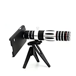 Apexel 5X-15X Long Focus Optical Zoom Telephoto Telescope Camera Lens with Tripod & Hard Case for Samsung Galaxy S5 I9600