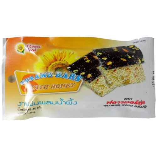 Sesame Bars Snack with Honey Health Herbal Food Net Wt 40g (1.41 Oz) X 6 Bags