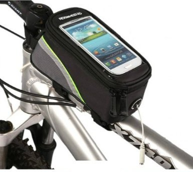 New Bicycle Bike Cycling Roswheel Frame Pannier Bag Front Tube Bag Phone Cell 100g Green