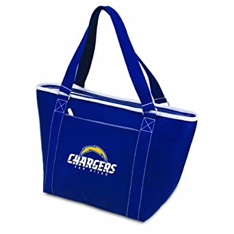 NFL San Diego Chargers Topanga Insulated Cooler Tote, Navy by Picnic Time
