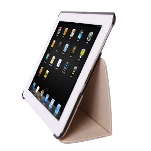Poetic Denim Laidback Protective Case For The New Ipad 3Rd Gen / Ipad 3 - Denim Light Brown - Support Auto Wake/Sleep Function (3 Year Manufacturer Warranty From Poetic)