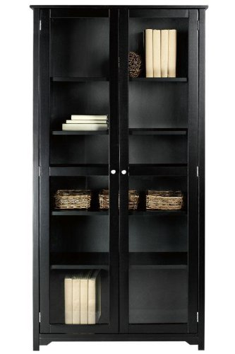 Oxford 36 W 6 Shelf Bookcase With Glass Doors Six Shelf
