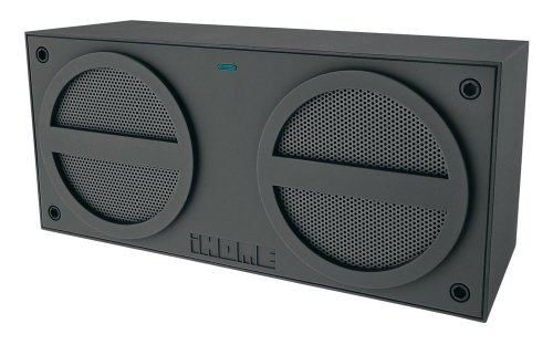 iHome iBN24GC Bluetooth Rechargeable Stereo Mini Speaker (Grey)