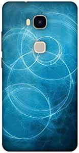 The Racoon Lean blue circles hard plastic printed back case / cover for Huawei Honor 5X