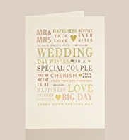 Wedding Text Wedding Card